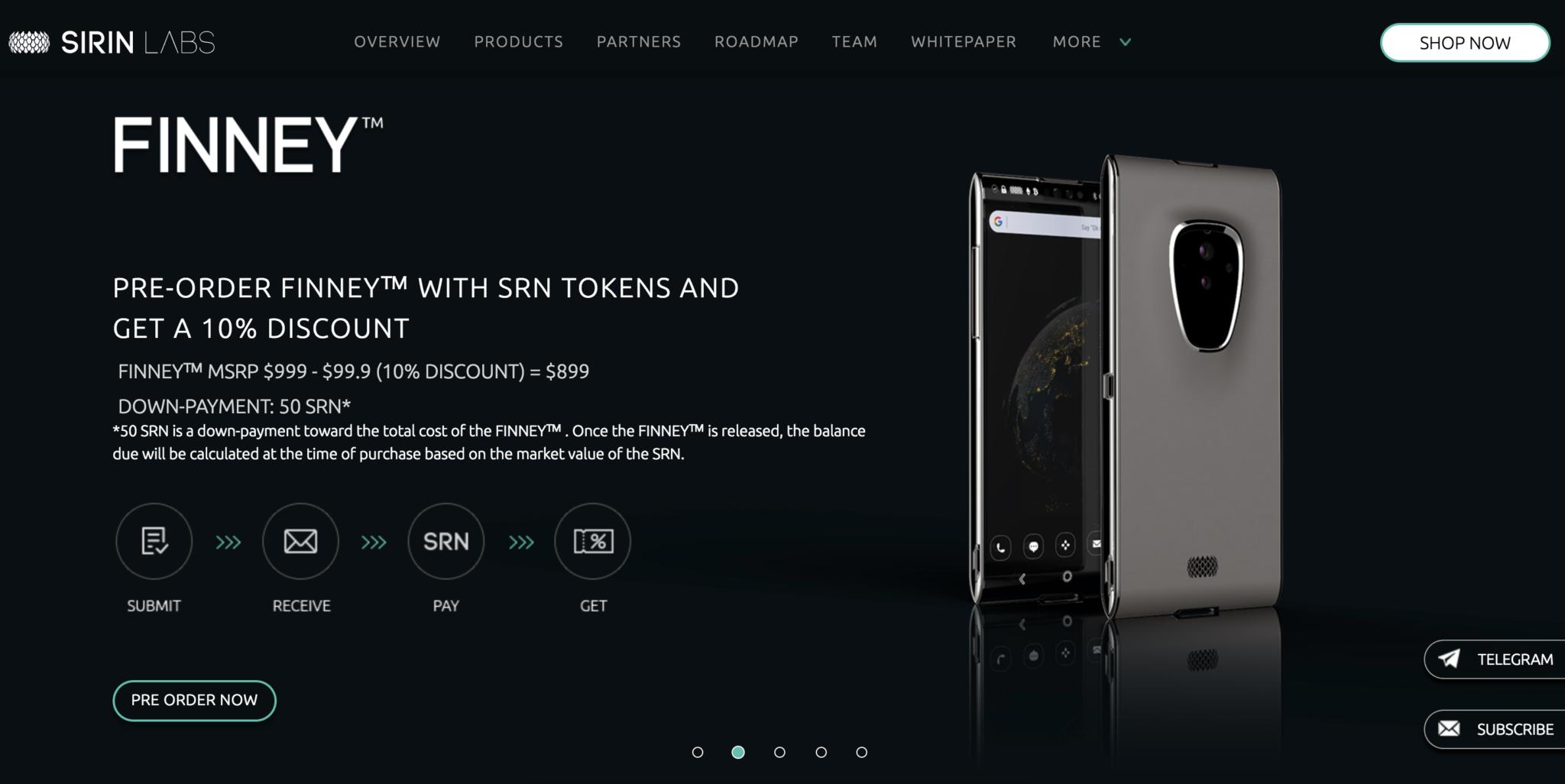 Sirin Labsが世界初のブロックチェーンスマートフォンfinneyの発売日が11月29日に決定!