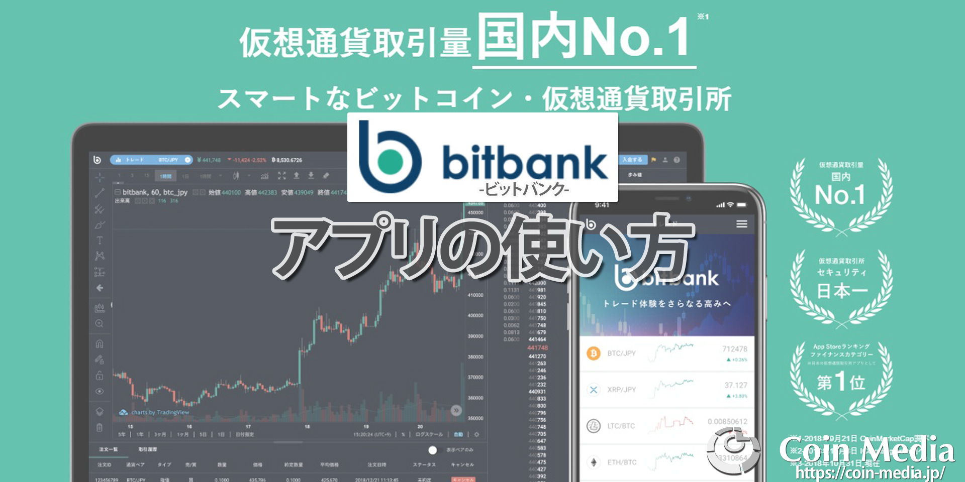 bitbank(ビットバンク)アプリの使い方