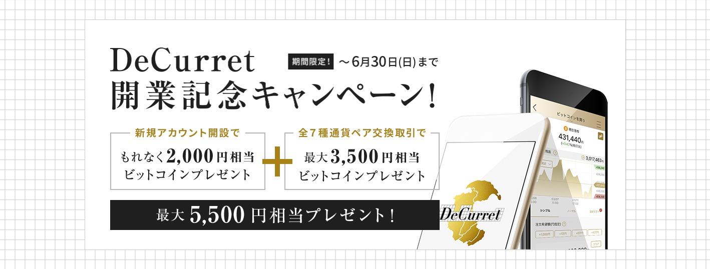ディーカレット開業記念キャンペーン