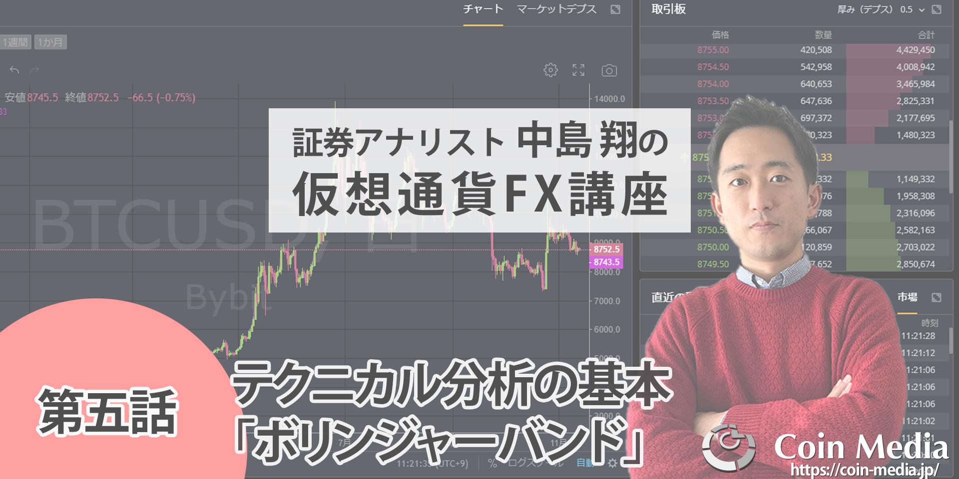 仮想通貨FX初心者向け講座第五話:テクニカル分析の基本(ボリンジャーバンド)【仮想通貨FX中級者への道】
