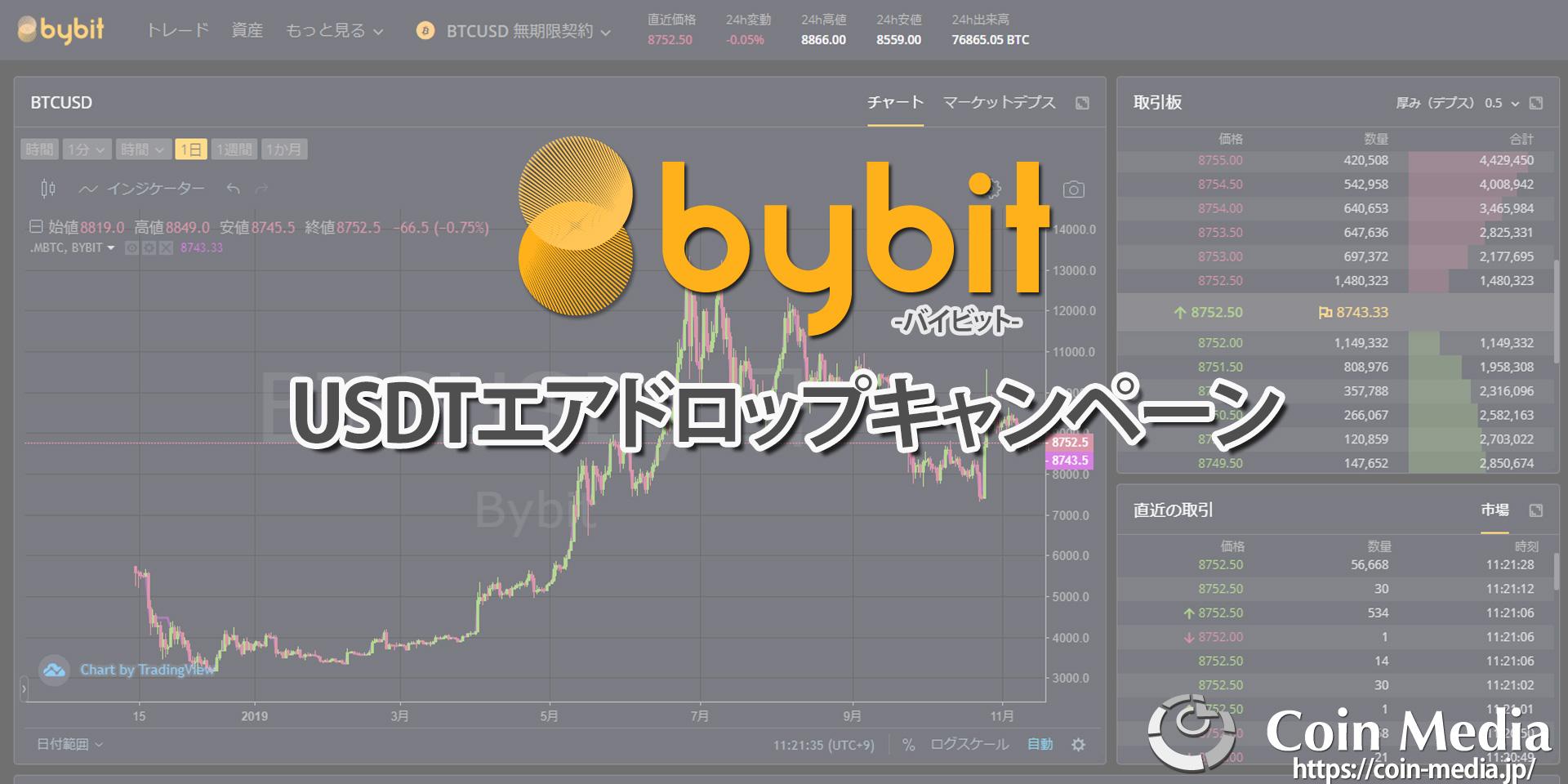 Bybit(バイビット)がお得なUSDTエアドロップキャンペーンの詳細を発表