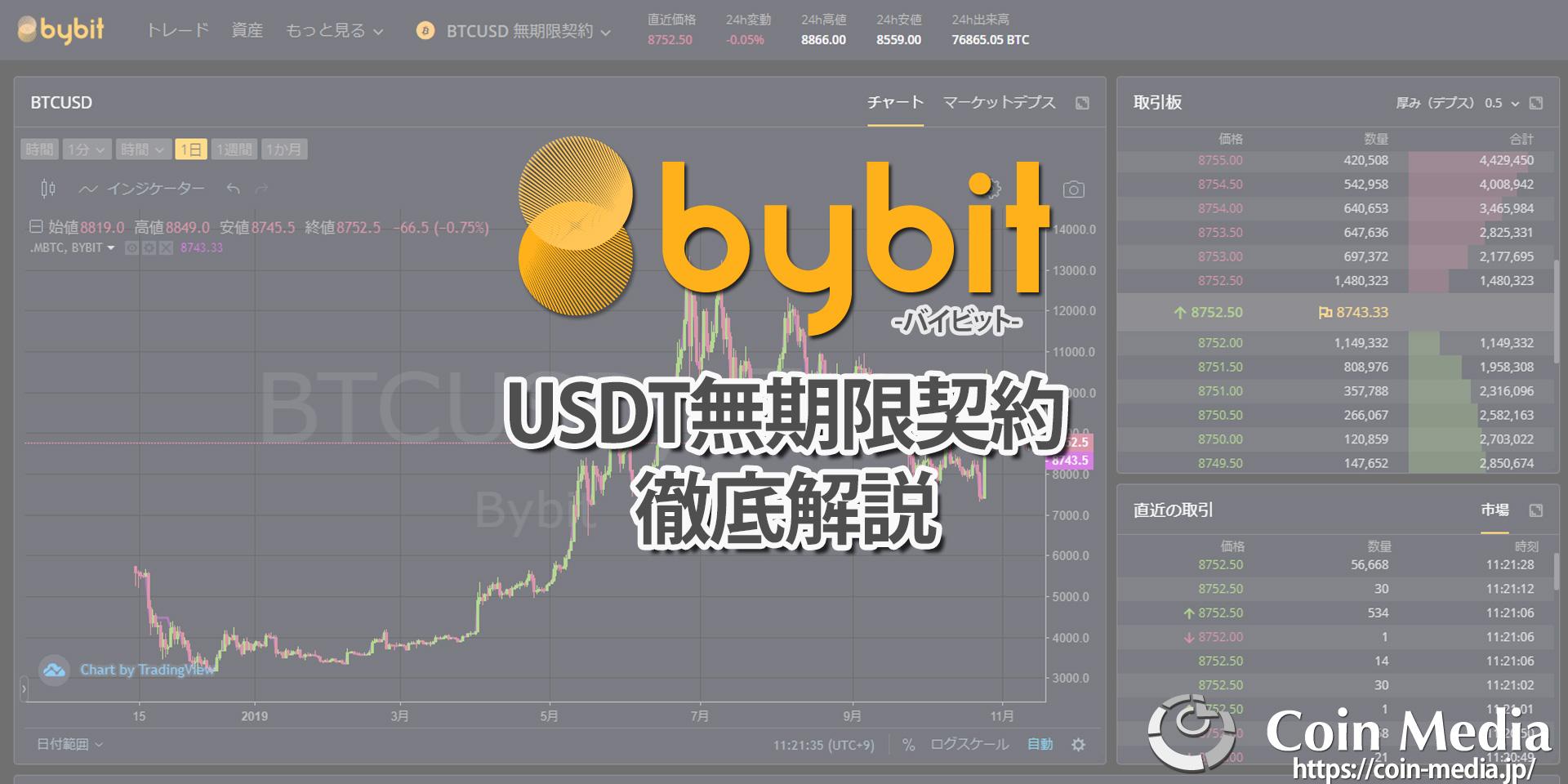 仮想通貨デリバティブ取引所Bybit(バイビット)が開始したUSDT無期限契約について詳しく解説!