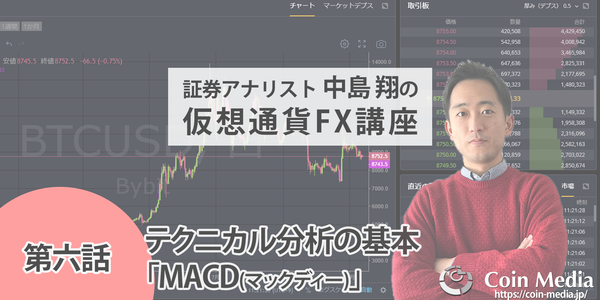 初心者のための仮想通貨FX講座六話MACD