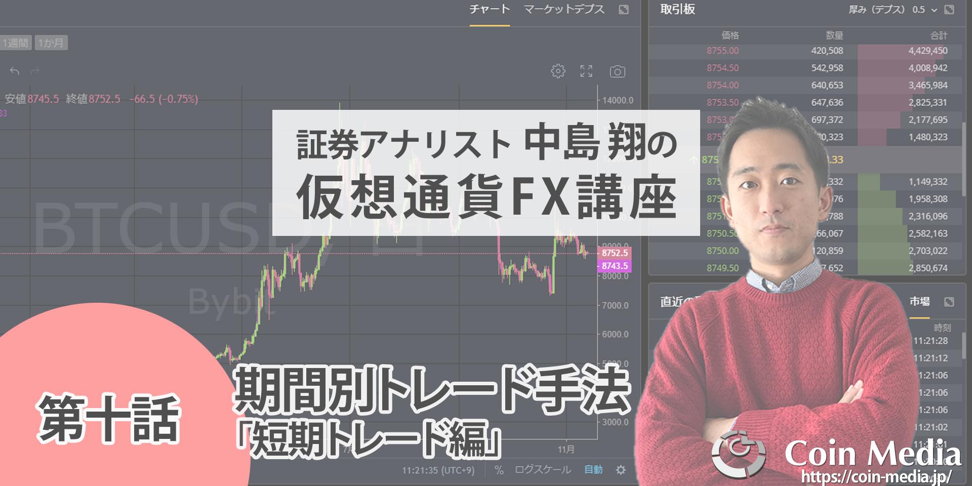 初心者のための仮想通貨FX講座短期トレード編